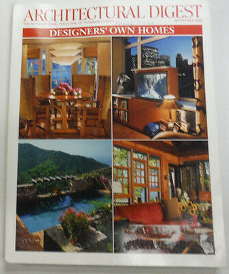 Architectural Digest Magazine Designers' Own Homes September 2002 063015R2