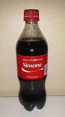 Share a Coke with Simone - 20 oz Bottle - New, Sealed - 2015 - Coca Cola