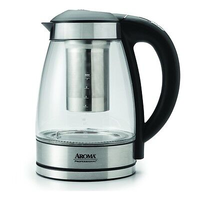 Aroma 7 Cup / 1.7 Litre Digital Electric Water Kettle with Tea Infuser AWK-165DI