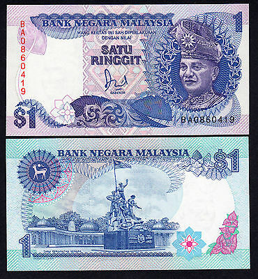 Malaysia 1 Ringgit  ND (1986-95)  Replacement Note BA UNC P. 27a