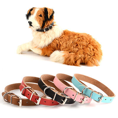 Dog puppy Collar New Real leather Small Medium Large Pet Bone Studded
