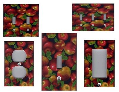 Red Apples Kitchen Home Wall Decor Light Switch Plates And Outlets