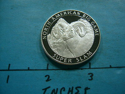 Bighorn Sheep North American Big Game Super Slam Hunting 999 Silver Coin #4
