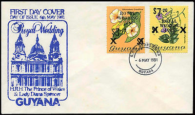 Guyana 1981 Royal Wedding, Princess Diana FDC #C25702
