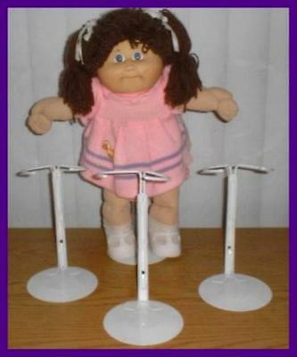 3 White Kaiser Doll Stands for CABBAGE PATCH KIDS