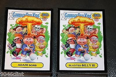 2015 Garbage Pail Kids 30Th Anniversary Complete Black Glossy Set 220 Cards A/b