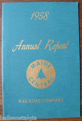 1958 Maine Central Railroad Annual Report
