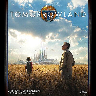 Walt Disney Tomorrowland Live Action Movie 16 Month 2016 Wall Calendar SEALED