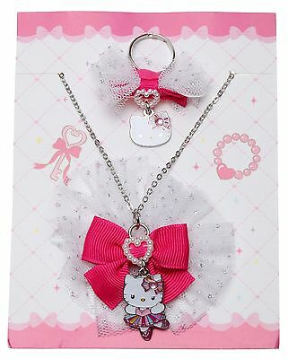 SANRIO - HELLO KITTY BALLERINA NECKLACE and ADJUSTABLE RING SET