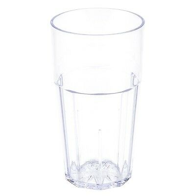 Thunder Group 24 OZ, DIAMOND TUMBLER, POLYCARBONATE, CLEAR PLPCTB124CL Glass NEW