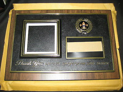 Thank You for Your Support of the Supply Division, BSA wood plaque, unused eb10