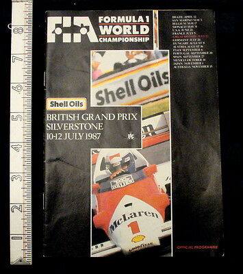 Genuine British Grand Prix Formula 1 Silverstone July 1987 Official Programme