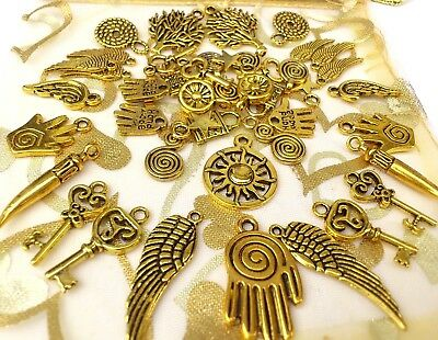 12  Large Funky Tibet style Key Charms Mix 30-42 mm ** FRee P/&P**