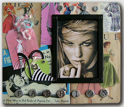 Embellished Cover  ~ FASHION GIRL ~ Scrapbook Photo Album  - 26 X 22 x 3cm