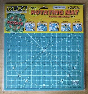 OLFA Rotating Cutting Mat RM-30X30 Quiltmaking Fabric Leather 300mm x 300mm