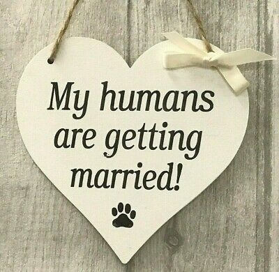 Wedding Sign My Humans Are Getting Married Dog Pet Church Aisle Sign Photo Prop