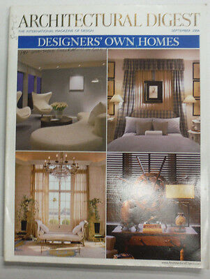 Architectural Digest Magazine Designers' Own Homes September 2006 070415R