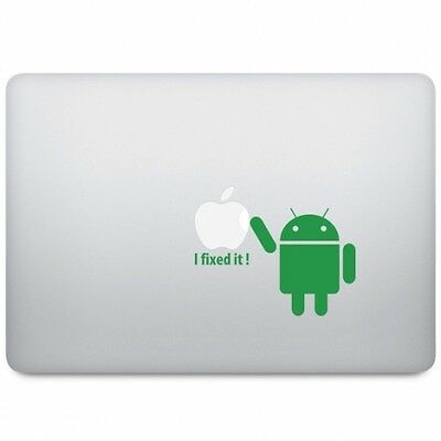 ANDROID I FIXED IT Sticker Decal Autocollant VINYL pour Macbook Pro /Air /Retina