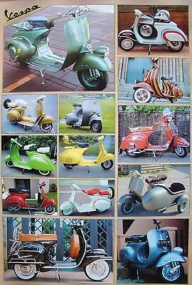 Vespa Motorbike / Scooter Poster From Asia: 13 Classic Models