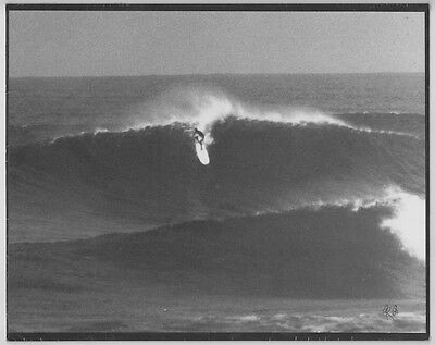 "Eddie Aikau At Sunset Beach, 1968 Oahu Hand Printed Foto On Black 8X10"" Matt"