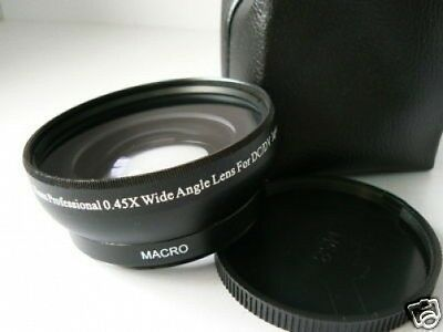 KW BK 58mm 0.45X Wide-Angle Lens w/Macro For Canon Rebel SL1 T3 XS T5i w/18-55mm