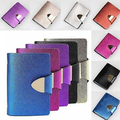 1pc Luxury Women PU Leather 26 Slots Business ID Credit Card Case Bag Holder Box