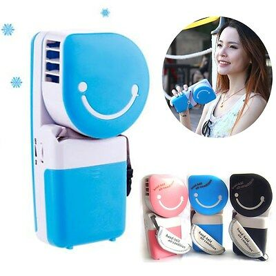 USB & Battery Power Mini Air Conditioner Cooler Portable Cooling Fan Hand Held