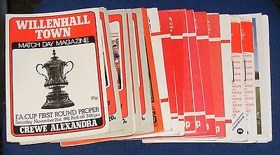 Willenhall Town Various Home Programmes 1981-2004