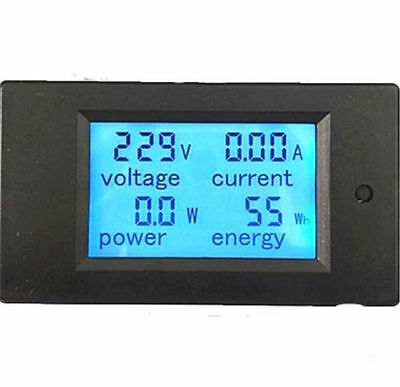 New AC 20A Digital LED Power Panel Meter Monitor Power Energy Voltmeter Ammeter