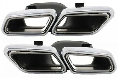 Mercedes AMG S65 S63 E63 Exhaust Muffler Tips Pipe Quad W222 W212 R231 W218