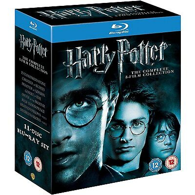 Harry Potter - Complete 8-Film Collection (11 Disc Blu-Ray Set) Brand New Sealed
