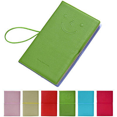 Mini Notebook Memo Daily Book Smile Emoticon Leather Book Blocks Pocket Notes