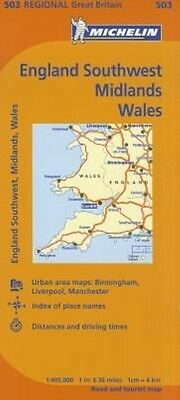 Michelin Map Great Britain: England Southwest, Midlands, Wales by Folded Book (E