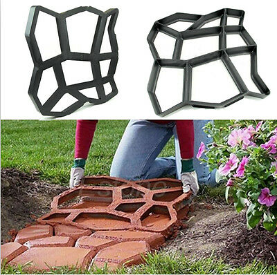 Creative Paving Mold For Garden Patio Driveway Concrete Stepping Stone Cement CA