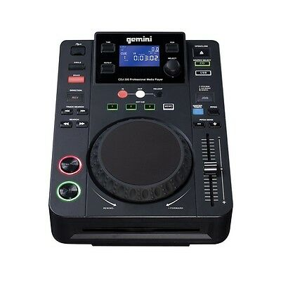 Gemini CDJ-300 All-in-One Professional Media Player Home Mobile Club DJ CD Deck