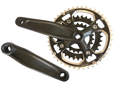 Crank Set MTB Triple 44/32/22 Square Taper Black Shun SOW-360