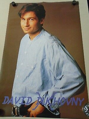 David Duchovny - Orig. UK 90's Import poster / Excellent New cond./ 23x35""