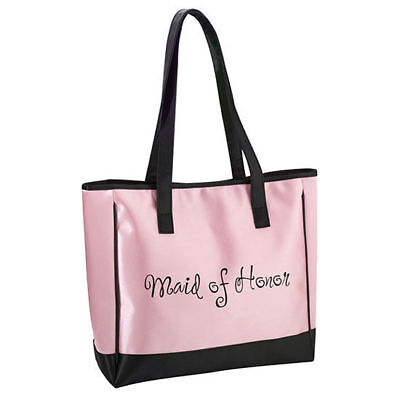 Maid of Honor Pink Tote Bag Maid of Honor Gift Wedding Party Gifts