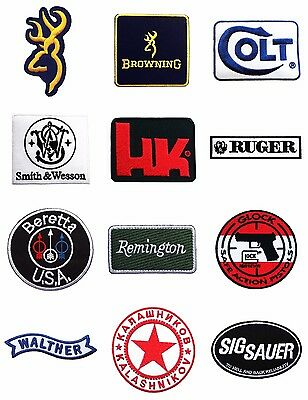 New Guns Firearms Patches Embroidered Sew Or Iron On Vest Jacket Free Shipping