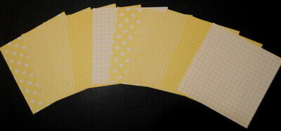 """Shades of YELLOW Scrapbooking Papers **15cm x 15cm** (6"""" X 6"""")"""