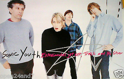 "Sonic Youth ""experimental Jet Set Trash And No Star"" Band Shot U.s. Promo Poster"