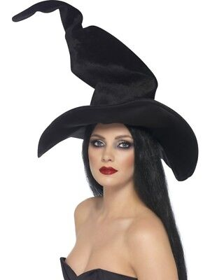 Witches Hat Tall Twisty Adult Womens Smiffys Fancy Dress Costume Accessory