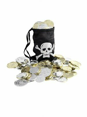 Pirate Coin Bag Adult Unisex Smiffys Fancy Dress Jewellery