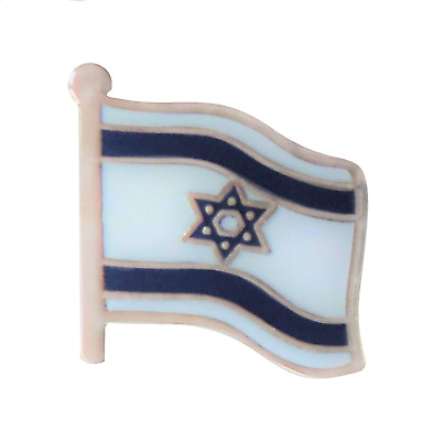 Israel National Wavy Flag Pin Badge - T928