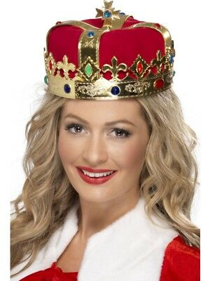 Queen's Royal Crown Royality Adult Womens Smiffys Fancy Dress Costume Accessory