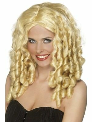 Blonde Film Star Wig Long Spiral Curls Adult Womens Smiffys Fancy Dress Costume