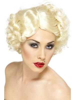1920's Razzle Blonde Hollywood Icon Wig Adult Womens Smiffys Fancy Dress Costume