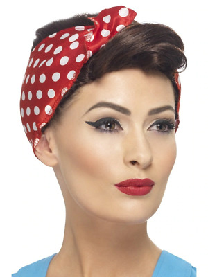 Brown 1940's Wartime Rosie Wig Adult Womens Smiffys Fancy Dress Costume