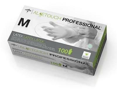 10 pack or box of 100 in M Aloetouch Powder-Free Professional Latex Exam Gloves