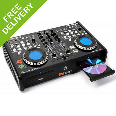 PD PDX125 Dual CD SD MP3 Player Professional Home Recording Studio DJ Mixer